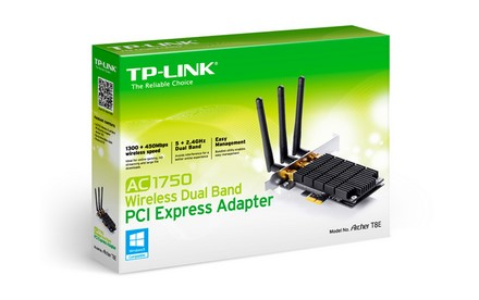 Adaptador Inalámbrico de Doble Banda PCI Express AC1750 T8E