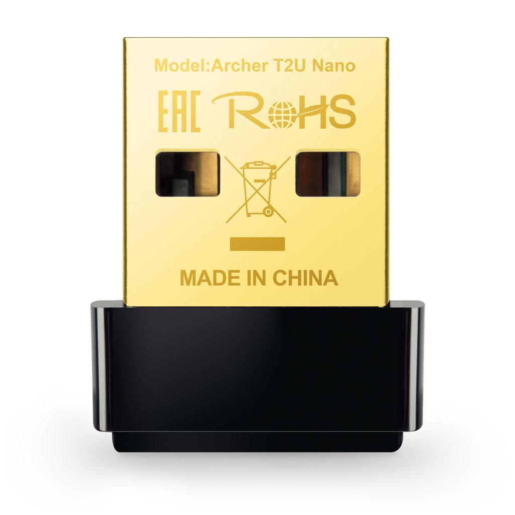 TP-LINK - Adaptador inalámbrico Nano USB de doble banda AC600 - Archer T2U Nano