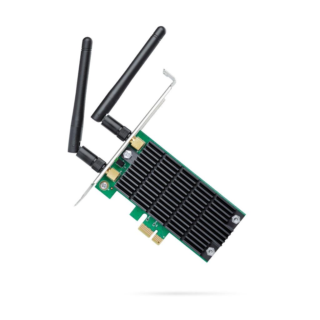 TP-LINK - Adaptador PCI Express inalámbrico de doble banda AC1200 - Archer T4E