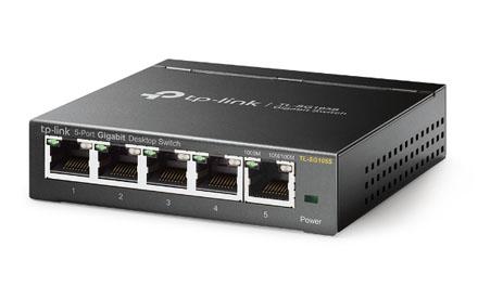 Switch de escritorio de 5 puertos a 10/100/1000Mbps - TL-SG105S