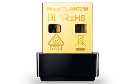 TP-LINK - Adaptador USB Nano Inalámbrico N de 150Mbps - TL-WN725N