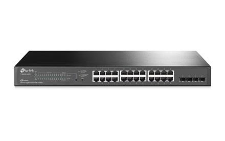 Switch Smart Gigabit PoE+ de 24 Puertos con Ranuras SFP JetSteam - T1600G-28PS (TL-SG2424P)