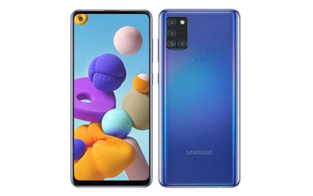 Samsung Galaxy A21s | Android 10 | Octa Core | 4Gb Ram | 64GB | Cuadrúple cámara | Batería 5,000 mAh | Azul