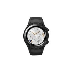 Huawei Watch 2 Sports - 45 mm - carb�n negro - reloj inteligente con pulsera deportiva - goma - tama�o de la banda 140-210 mm - pantalla luminosa 1.2