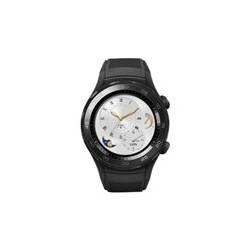 Huawei Watch 2 Sports - 45 mm - carbón negro - reloj inteligente con pulsera deportiva - goma - tamaño de la banda 140-210 mm - pantalla luminosa 1.2