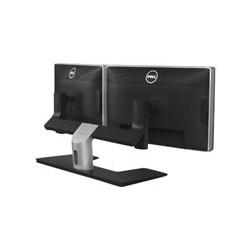 Dell MDS14 Dual Monitor Stand - Kit de montaje para 2 pantallas LCD - negro, plata - tamaño de pantalla: 24