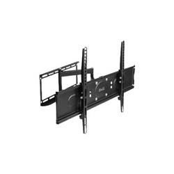 Klip Xtreme KPM-885 - Kit de montaje (placa de contacto, abrazadera de interfaz, brazo articulado doble) para LCD / panel de plasma - acero con pintura electrolítica - negro - tamaño de pantalla: 26