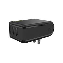 PureGear - Adaptador de corriente - 24 vatios - 4.8 A - 2 conectores de salida (USB) - negro