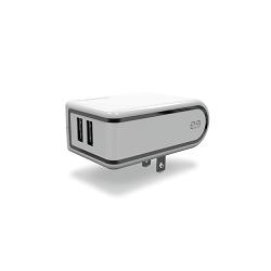 PureGear - Power adapter - car / USB - 4.8A Dual White
