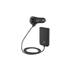 Belkin Road Rockstar - Adaptador de corriente para el coche - 36 vatios - 7.2 A - 4 conectores de salida (USB) - negro