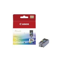 Canon CLI-36 Color - Color (cian, magenta, amarillo, negro) - original - cartucho de tinta - para PIXMA iP100, iP100 Bundle, iP100 with battery, iP100wb, iP110, mini260, mini320