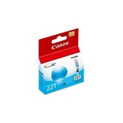 Canon CLI-221 - 9 ml - cián - original - depósito de tinta - para PIXMA iP3600, iP4600, iP4700, MP560, MP620, MP640, MP640R, MP980, MP990, MX860, MX870