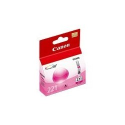Canon CLI-221 - 9 ml - magenta - original - depósito de tinta - para PIXMA iP3600, iP4600, iP4700, MP560, MP620, MP640, MP640R, MP980, MP990, MX860, MX870