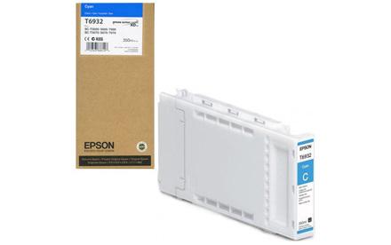 Epson T6932 - 350 ml - cián - original - cartucho de tinta - para SureColor SC-T3000, SC-T3200, SC-T5000, SC-T5200, SC-T7000, SC-T7200, T3270, T5270, T7270