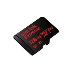 SanDisk Extreme - Tarjeta de memoria flash (adaptador microSDXC a SD Incluido) - 128 GB - A1 / Video Class V30 / UHS-I U3 - microSDXC UHS-I
