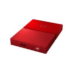 WD My Passport WDBYNN0010BRD - Disco duro - cifrado - 1 TB - externo (portátil) - USB 3.0 - AES de 256 bits - rojo