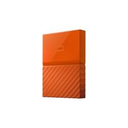 WD My Passport WDBYFT0020BOR - Disco duro - cifrado - 2 TB - externo (portátil) - USB 3.0 - AES de 256 bits - naranja