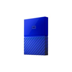 WD My Passport WDBYFT0030BBL - Disco duro - cifrado - 3 TB - externo (portátil) - USB 3.0 - AES de 256 bits - azul