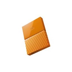 WD My Passport WDBYFT0030BOR - Disco duro - cifrado - 3 TB - externo (portátil) - USB 3.0 - AES de 256 bits - naranja