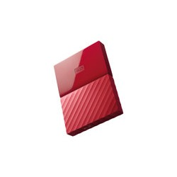 WD My Passport WDBYFT0030BRD - Disco duro - cifrado - 3 TB - externo (portátil) - USB 3.0 - AES de 256 bits - rojo