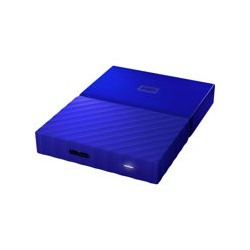 WD My Passport WDBYFT0040BBL - Disco duro - cifrado - 4 TB - externo (portátil) - USB 3.0 - AES de 256 bits - azul