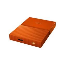WD My Passport WDBYFT0040BOR - Disco duro - cifrado - 4 TB - externo (port�til) - USB 3.0 - AES de 256 bits - naranja