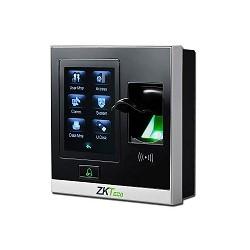ZK Teco Security - SF400 -  Control de acceso de huellas dactilares basado en IP y tiempo de asistencia -  Capacidad de detección de huella: 1,500 - TCP/IP, USB Host - Capacidad Record: 80,000 - DC 12V/3A - 105 x 105 x 32mm - 2.8 Pulgadas de pantalla táctil resistiva - alarma - No Incluye fuente de poder