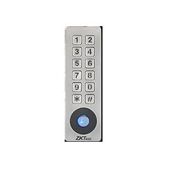 ZK Teco Security - SKW-V2 -  Controlador Independiente metálico - Lector de contraseña y/o tarjeta 125 KHz EM; Tarjeta MIFARE 13.56MHz  - Soporta conexioon a SRB por Wiegand -  Modo lector Wiegand configurable a 26bit o 34bit. - Anti vandalico y resistente al agua