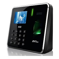 ZKTeco - K50 - Sistema de reloj registrador - Capacidad huella digital:800 - Capacidad ID Card: 800 - Ethernet, USB - TCP/IP,USB Host