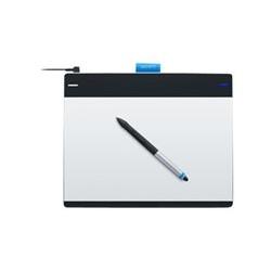 Wacom Intuos Tableta táctil y de lápiz creativa M - Digitalizador - diestro y zurdo - 21.6 x 13.5 cm - electromagnético - 4 botones - cableado - USB - negro, plata