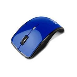 Klip Xtreme Kurve KMO-375 - Ratón - óptico - 4 botones - inalámbrico - 2.4 GHz - receptor inalámbrico USB - azul