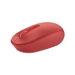 Microsoft ratón móvil inalámbrico 1850 - Ratón - diestro y zurdo - óptico - 3 botones - inalámbrico - 2.4 GHz - receptor inalámbrico USB - rojo llama