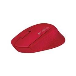 Logitech M280 - Ratón - diestro - óptico - 3 botones - inalámbrico - 2.4 GHz - receptor inalámbrico USB - rojo
