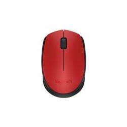 Logitech M170 - Ratón - diestro y zurdo - óptico - 3 botones - inalámbrico - 2.4 GHz - receptor inalámbrico USB - negro, rojo
