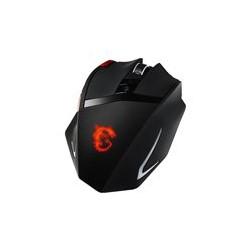 MSI INTERCEPTOR DS200 GAMING - Ratón - diestro - laser - 9 botones - cableado - USB - negro, rojo