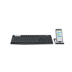 Logitech - Teclado Inalámbrico - Español - Negro - K375s Multi Dispositivo - Conexión USB - Conexión Bluetooth - Alcance inalámbrico de 10 m (33 ft)* - Soporte Universal para teléfono y tablet