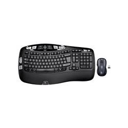 Logitech Wireless Wave Combo MK550 - Juego de teclado y ratón - inalámbrico - 2.4 GHz - Inglés