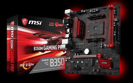 MSI B350M GAMING PRO - Placa base - micro ATX - Socket AM4 - AMD B350 FCH - USB 3.1 Gen 1 - Gigabit LAN - Tarjeta gráfica (CPU necesaria) - HD Audio (8-canales)