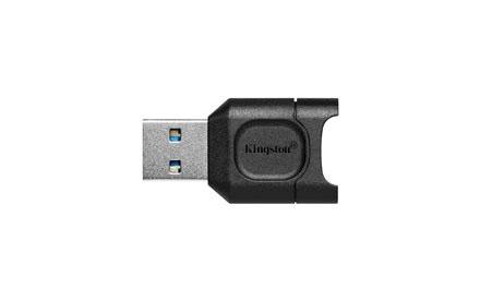 Kingston MobileLite Plus - Lector de tarjetas (microSD, microSDHC, microSDXC, microSDHC UHS-I, microSDXC UHS-I, microSDHC UHS-II, microSDXC UHS-II) - USB 3.2 Gen 1