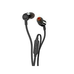 JBL T210 - Auriculares internos con micro - en oreja - cableado - conector de 3,5 mm - negro
