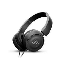 JBL T450 - Auriculares con diadema con micro - en oreja - cableado - conector de 3,5 mm - negro