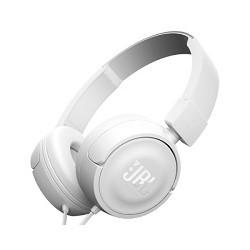 JBL T450 - Auriculares con diadema con micro - en oreja - cableado - conector de 3,5 mm - blanco
