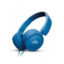 JBL T450 - Auriculares con diadema con micro - en oreja - cableado - conector de 3,5 mm - azul