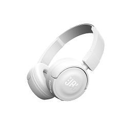 JBL T450BT - Auriculares con diadema con micro - en oreja - Bluetooth - inalámbrico - blanco