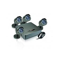 Nexxt Xpy 4004-HD - Kit CCTV de 4 Canales con 4 Cámaras 720p para el Exterior