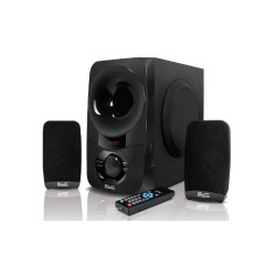 Klip Xtreme - Speaker system - 2.1-channel - Black / Piano black - Bluetooth-SD-USB-3.5