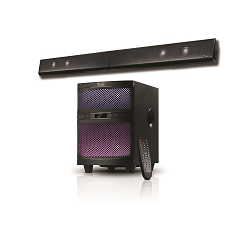 Klip Xtreme KSB-250 - Sound bar - Wireless - Black - 2.1CH Sound System