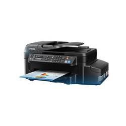 Epson EcoTank L575 - Impresora multifunción - color - chorro de tinta - 216 x 297 mm (original) - 216 x 1110 mm (material) - hasta 33 ppm (copiando) - hasta 33 ppm (impresión) - 100 hojas - 33.6 Kbps - USB 2.0, LAN, Wi-Fi(n)
