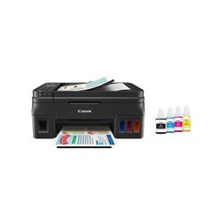 Canon PIXMA G4100 - Impresora multifunción - color - chorro de tinta - Refillable - A4 (210 x 297 mm), Legal (216 x 356 mm) (original) - A4/Legal (material) - hasta 8.8 ipm (impresión) - 100 hojas - 33.6 Kbps - USB 2.0, Wi-Fi(n)