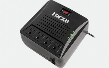 Forza FVR Series FVR-3001 - Regulador automático de voltaje - CA 110/120 V - 1500 vatios - 3000 VA - conectores de salida: 4